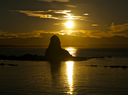 Fifeshire Rock at Sunset