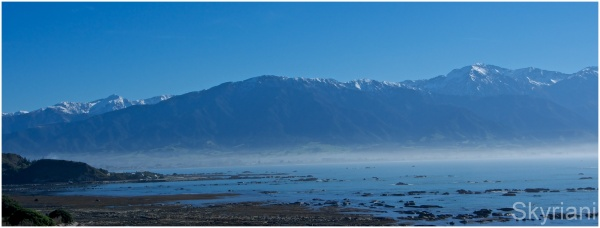 Mountains, Snow, Sea and Mist