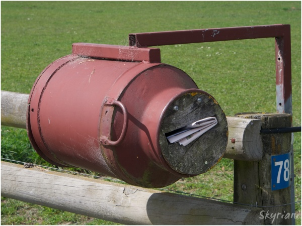 Milk Can Letterbox