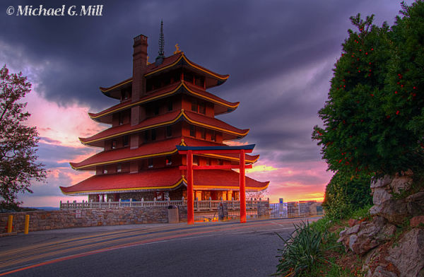 Sun Going Down at the Pagoda