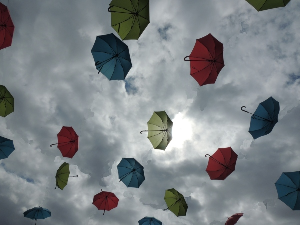 parapluies , umbrellas,Amiens, Art , poetry