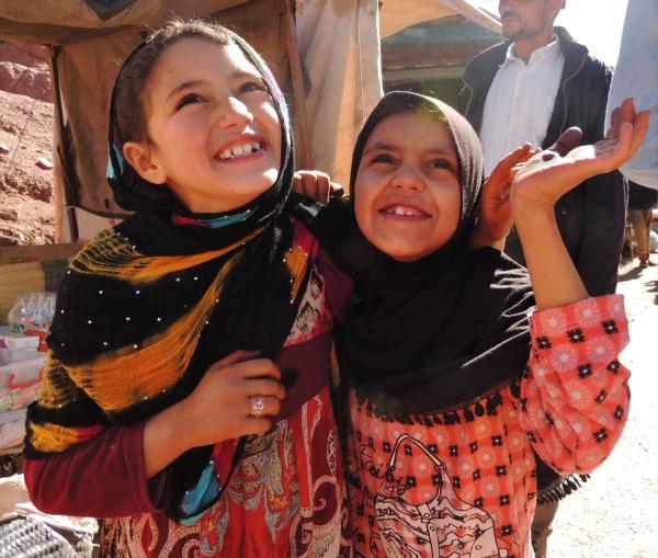Maroc, souk, girls