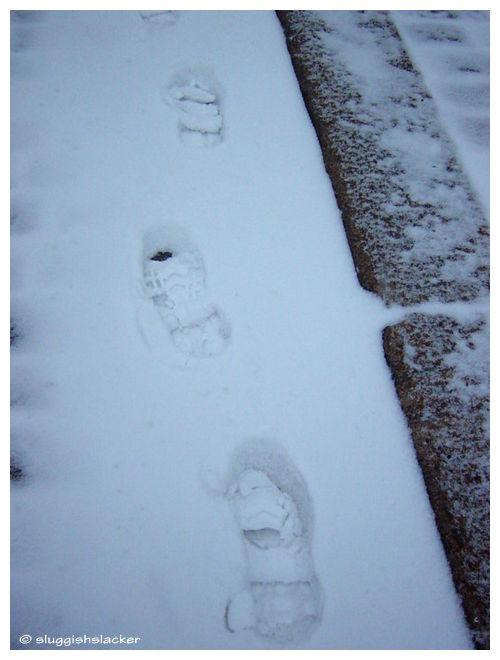 Winter - footsteps