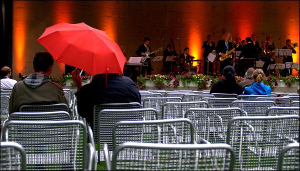 Konzert im Regen