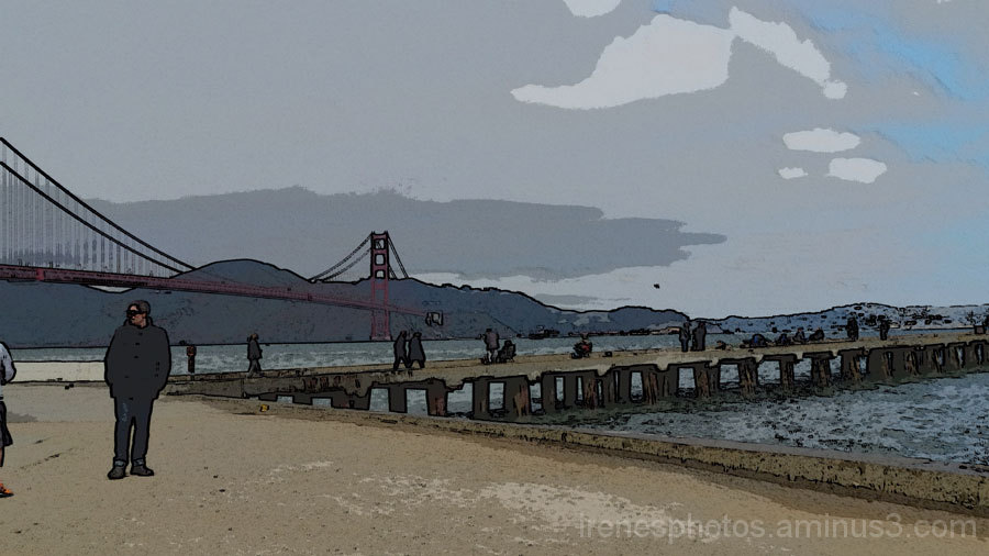 Golden Gate Bridge and Pier #2