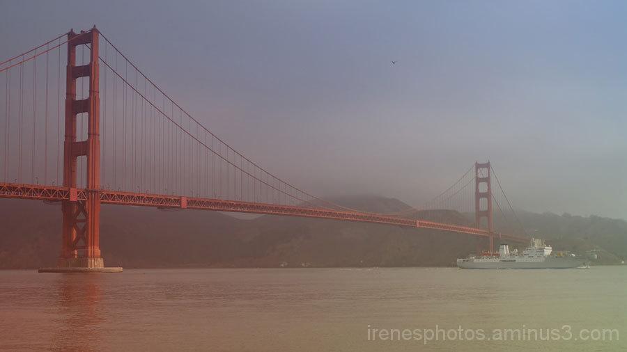 Ship Passed Under Golden Gate