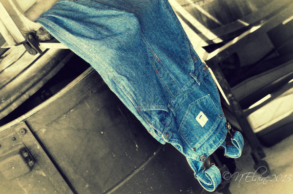 jeans in washtub
