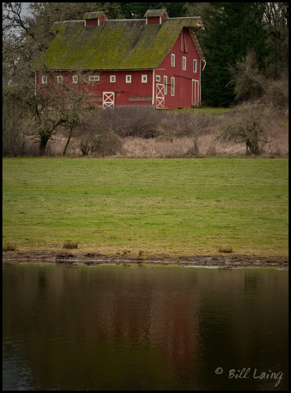 Red Barn Across Pond