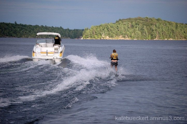 At the cottage - water skiing