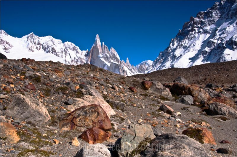 Cerro Torre Above the Moraine, Patagonia, Argentin