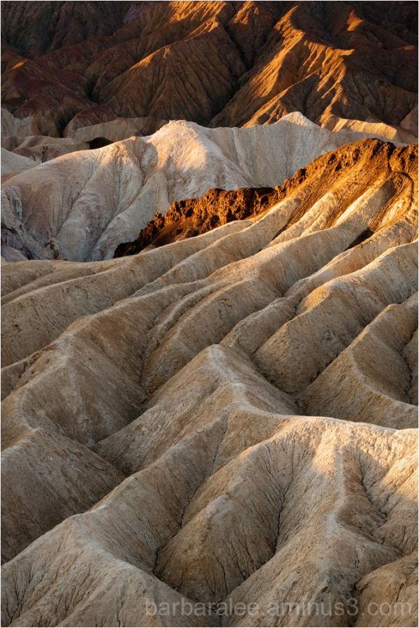 The Badlands at Sunrise - Death Valley