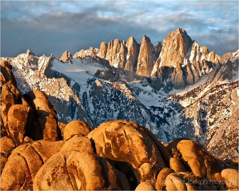Mt. Whitney and Alabama Hills at Sunrise