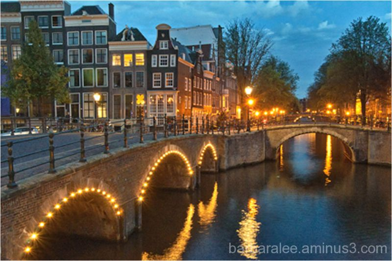 The Canals of Amsterdam at Night