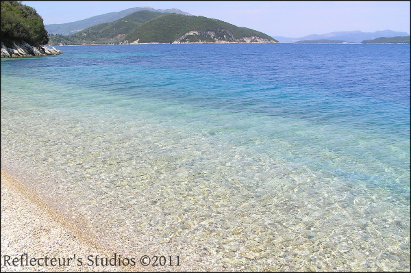 sea blue greece hellas ionian lefkada reflecteurs