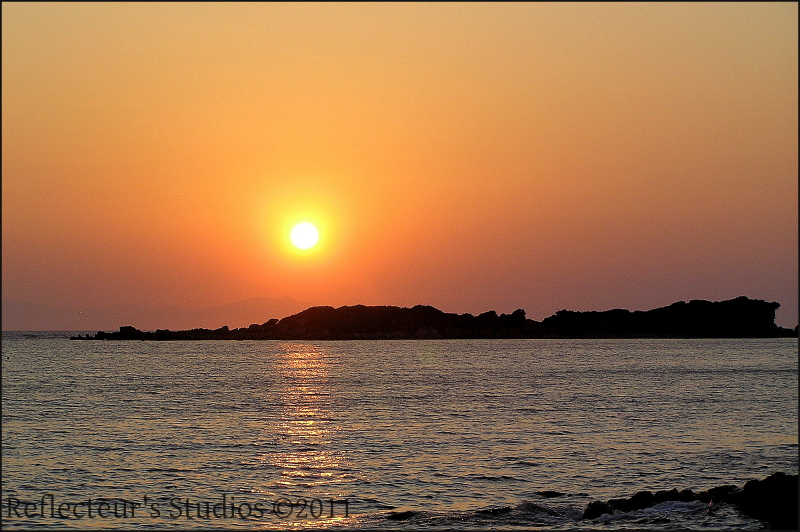 summer sea reflecteurs greece hellas sunset ionian