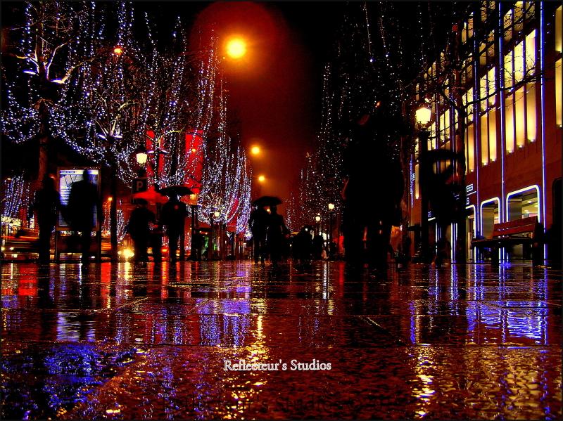 paris avenue champs elysees reflecteurs