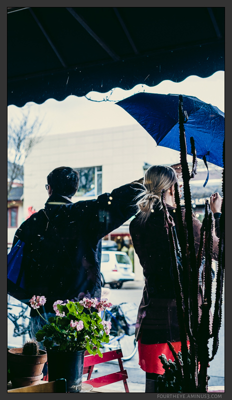 two people ane umbrella