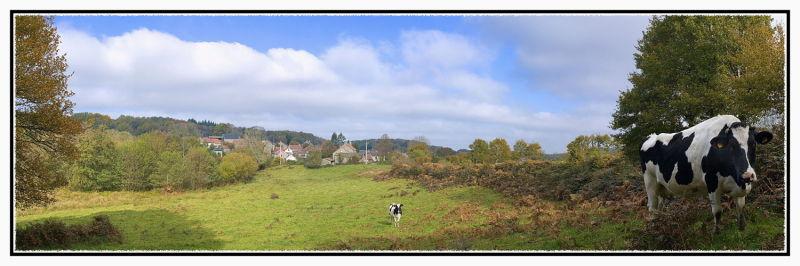 Village de La Charse (Creuse) 20x60