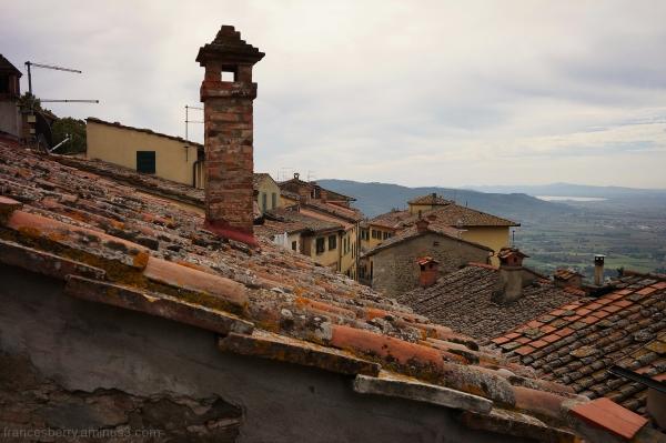 Cortona, Italy - Rooftop tiles