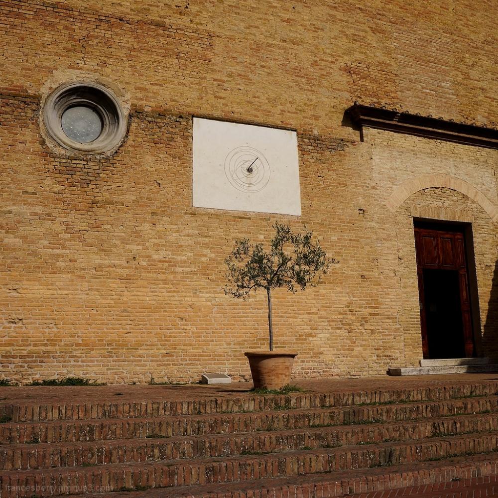 San Gimignano, Italy - exterior St. Augustine