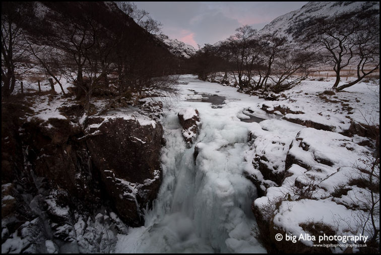 Winter, Lower Falls, Glen Nevis, Scotland