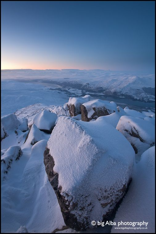 Shiehallion's Winter Summit, Perthshire