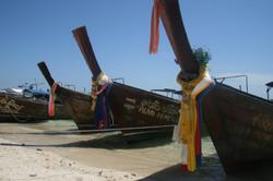 Boats docked at Phi Phi Island, Phuket.