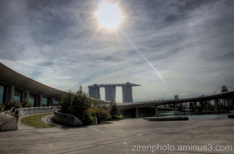 A futuristic HDR shot of Singapore from Marina Bay