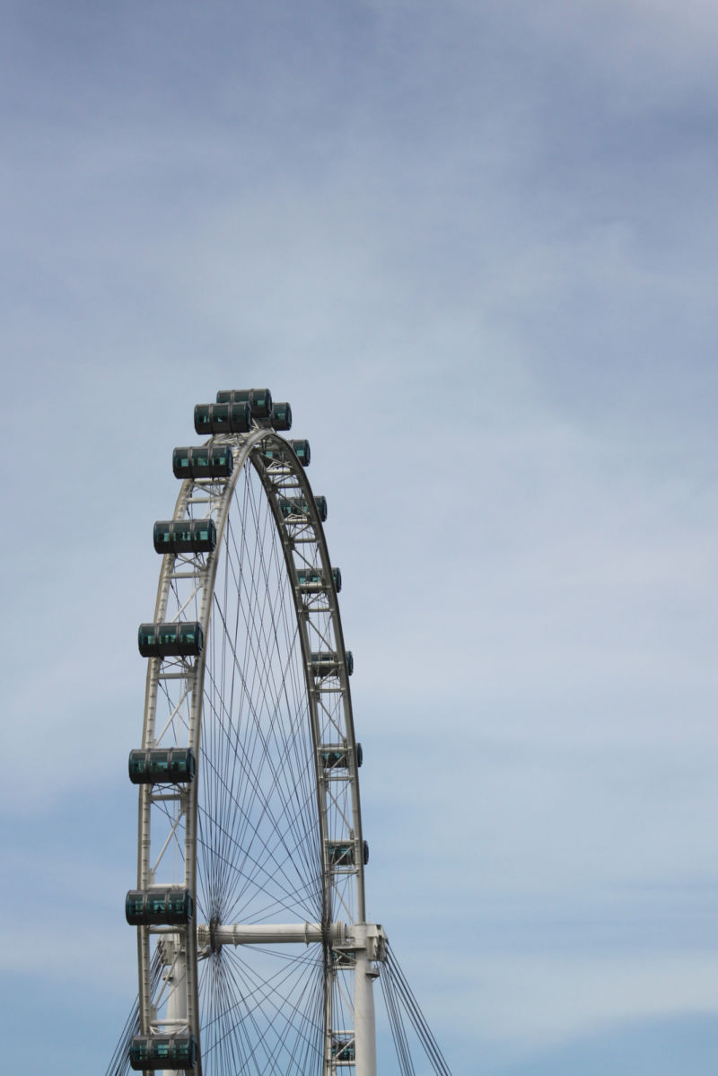 The majestic Singapore Flyer on a clear day.