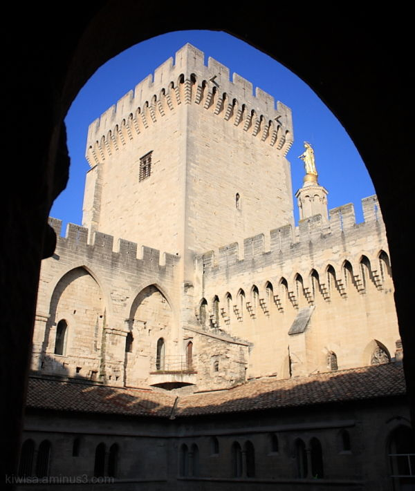 Avignon #3:  View through the cloisters