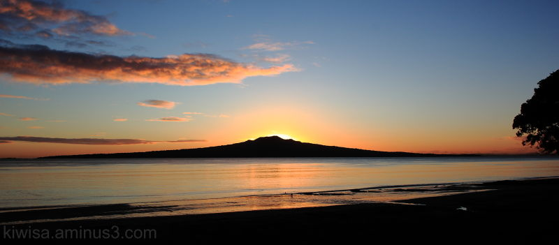 Sunrise over Rangitoto