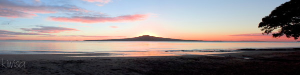Rangitoto at dawn