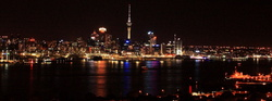 Auckland city night lights