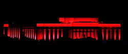 Auckland Museum at night