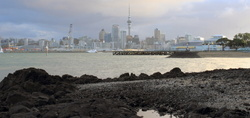 Auckland city view after the rain