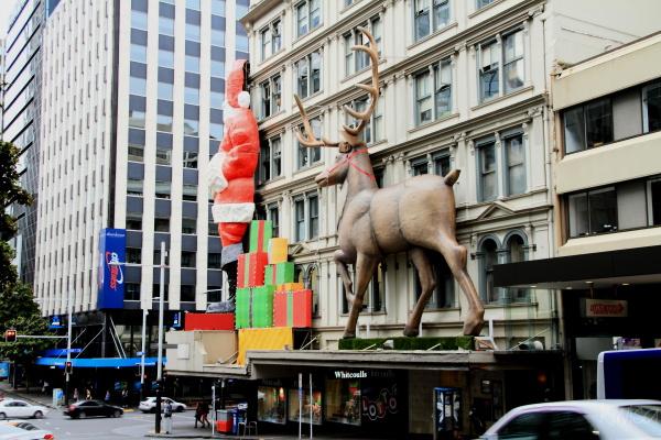 Is that reindeer chasing Santa?