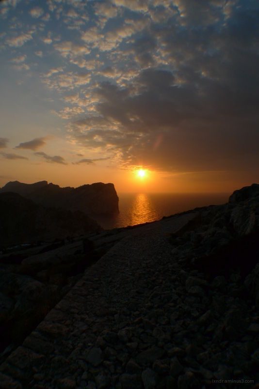 The sunset at Cap De Formentor in Malloca