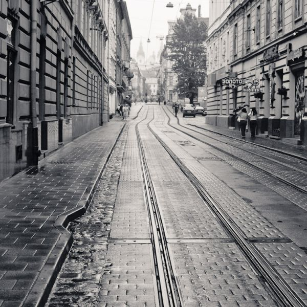 Rainy morning in Lviv