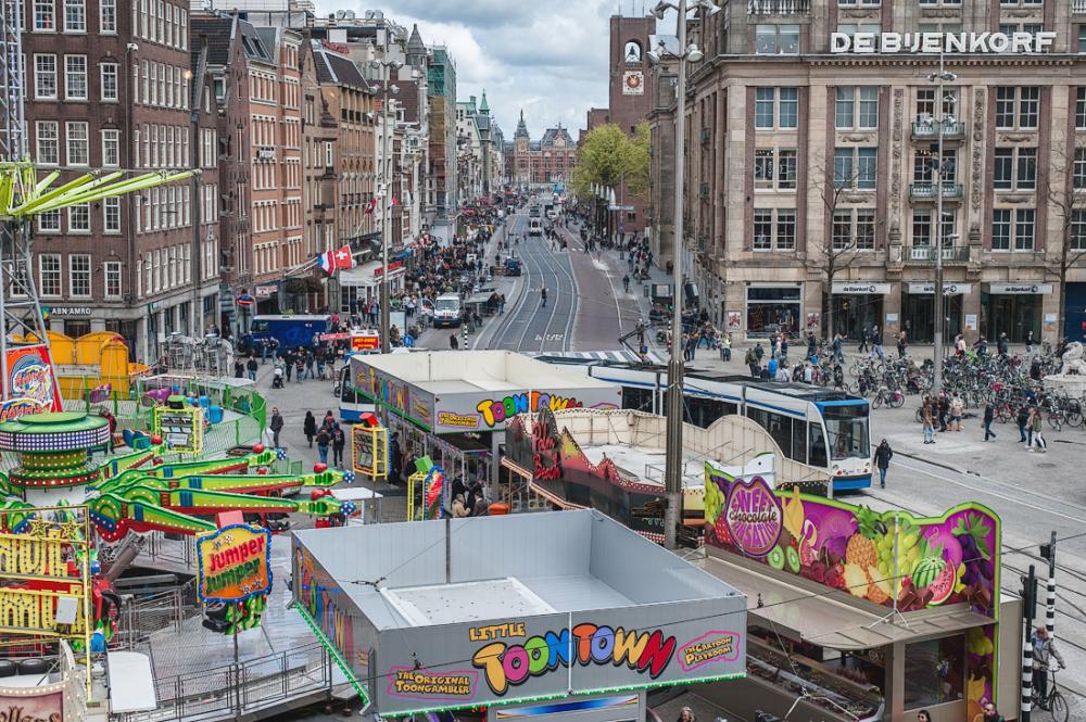 Damrak en De Dam,  Amsterdam
