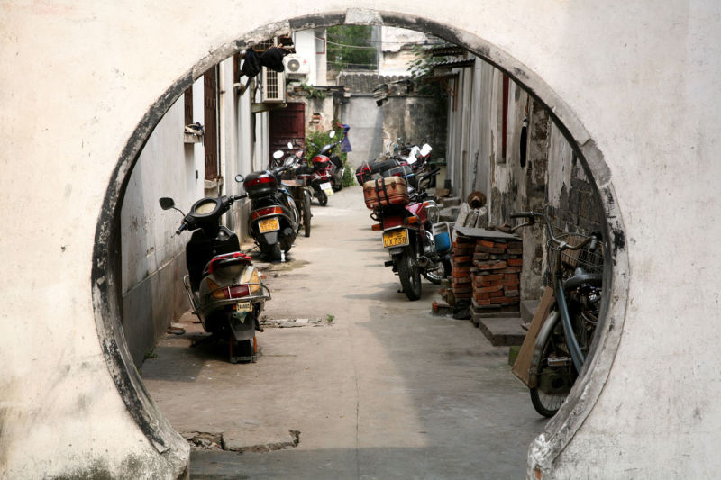 Chinese motorcycle parking