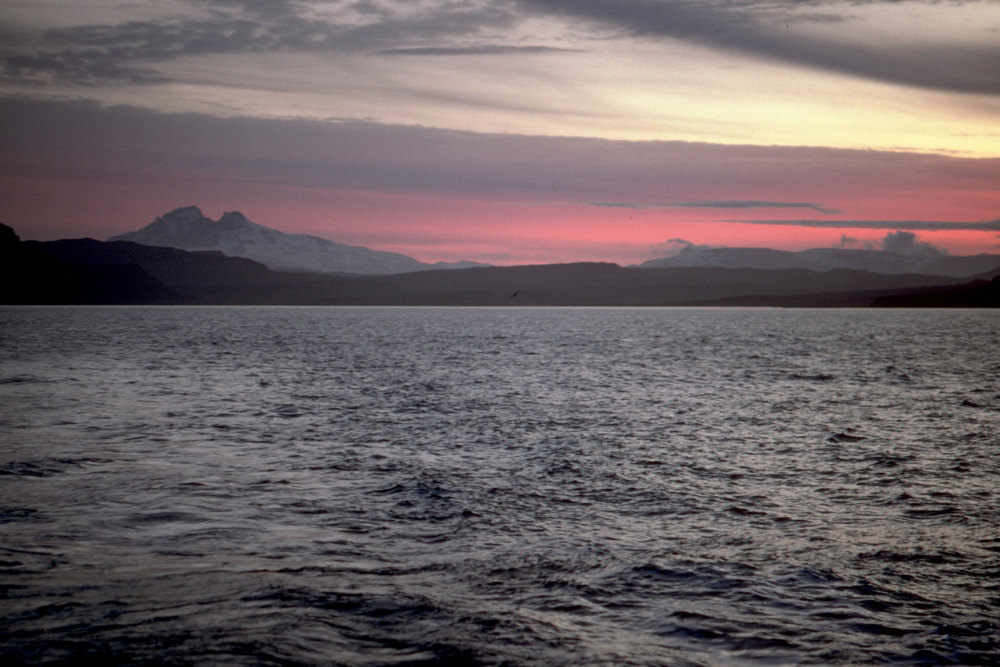 Crépuscule sur le mont Ross