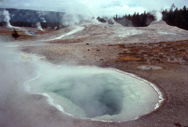 Les fumerolles de Yellowstone