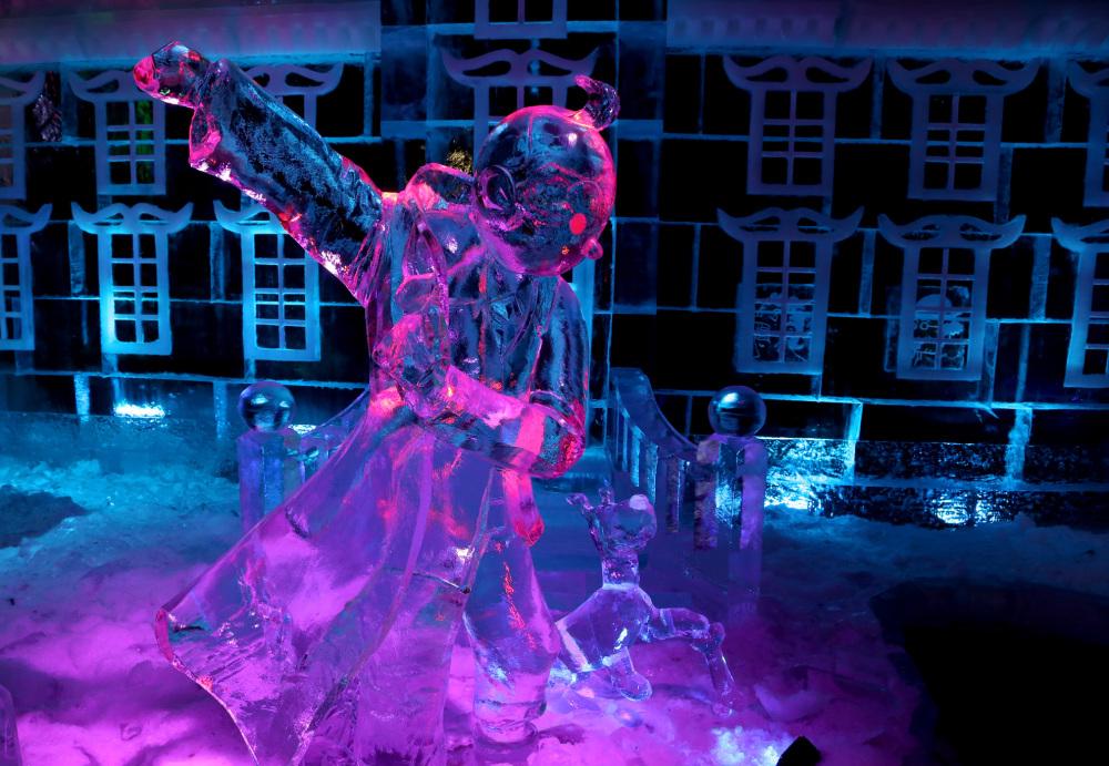 Statue de glace Bruxelles