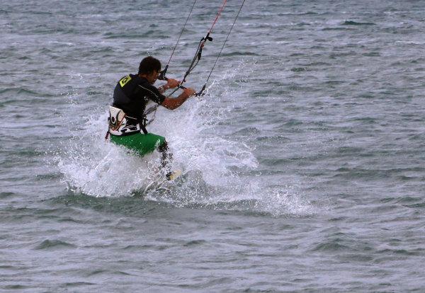 Sur le spot de Kyte surf de La Franqui