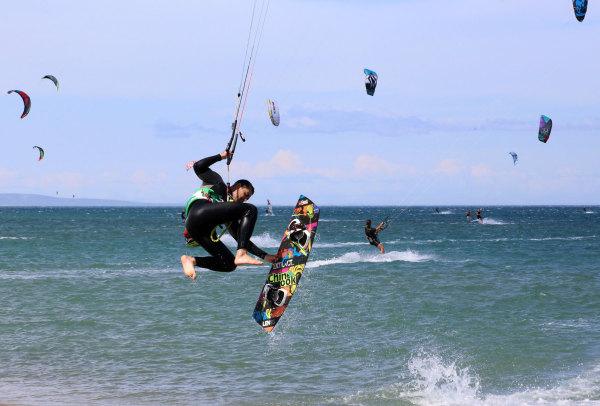 Le spot de kite de La Franqui