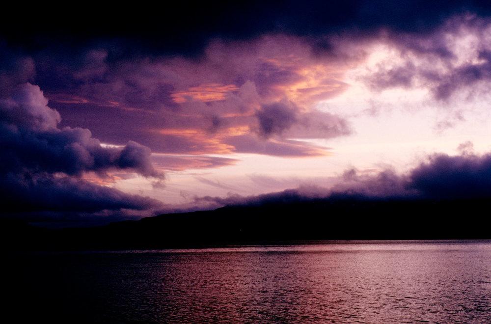 Coucher de soleil dans le golfe des baleiniers