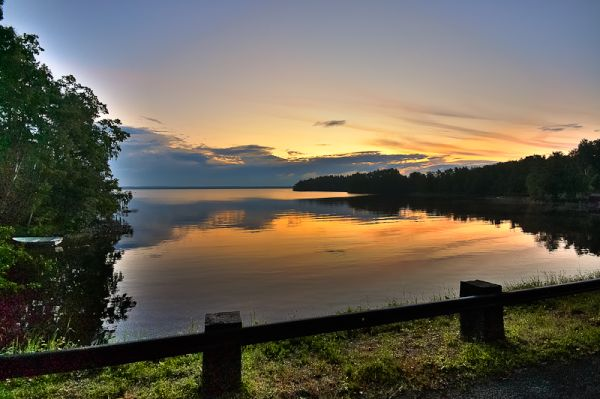Sunrise at lake Mien, Scania, Sweden