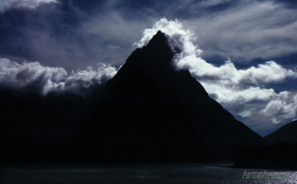 Midnight at Milford Sound - or is it?
