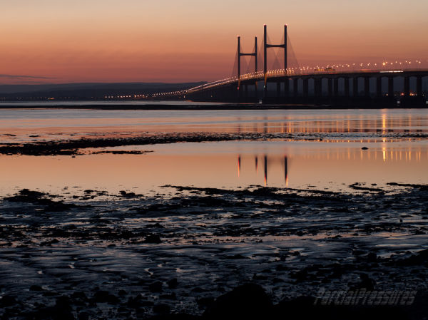 September sunset at Severn Beach