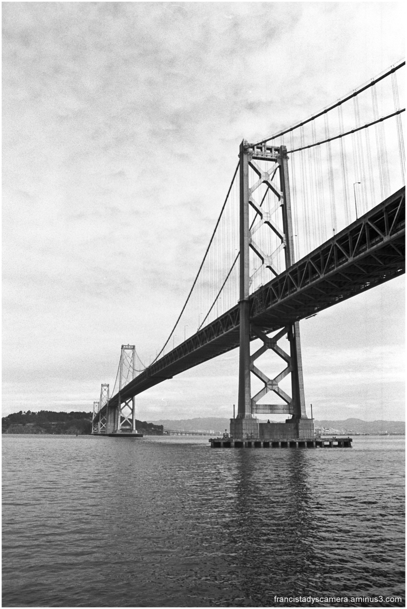 Bridge Photography Black And White Bay Bridge in Black And White